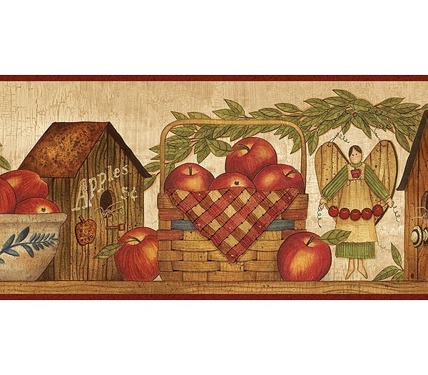 Burgundy-Apple-Season-Border-Rustic-Country-Primitive-wallpaper-wp5603643