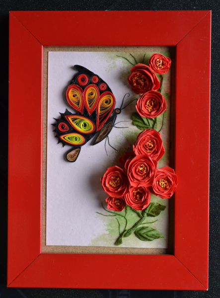 Buterfly-and-rose-quilling-wallpaper-wp424299