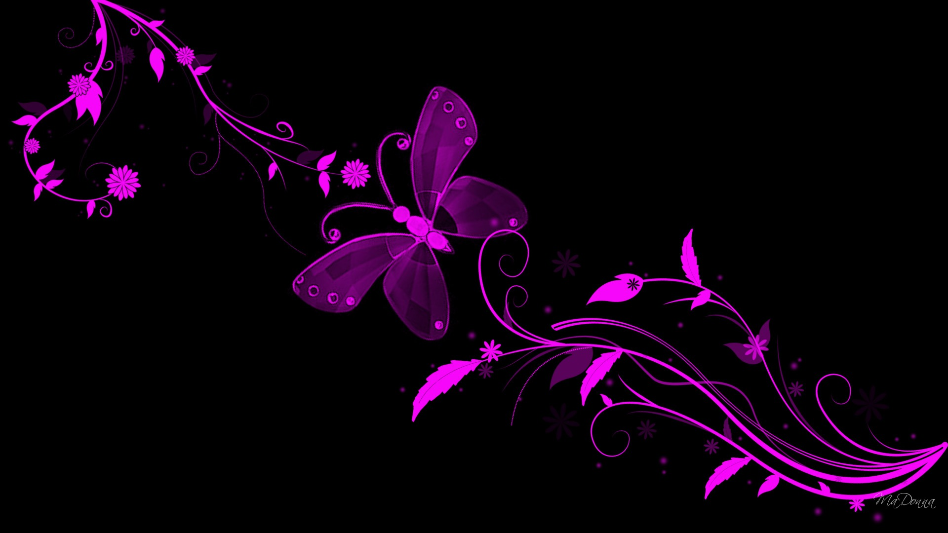 Butterfly-Download-Black-And-Pink-Butterfly-Flowers-Abstract-Bright-Butterfly-wallpaper-wp3403572