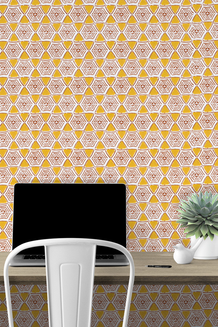 Can-I-work-here-Caught-In-My-Web-in-Saffron-yellow-and-rust-definitely-livens-up-this-h-wallpaper-wp5205005