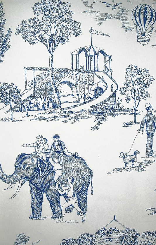 Carnival-Toile-A-lovely-carnival-scenic-in-blue-on-white-wallpaper-wp5005760