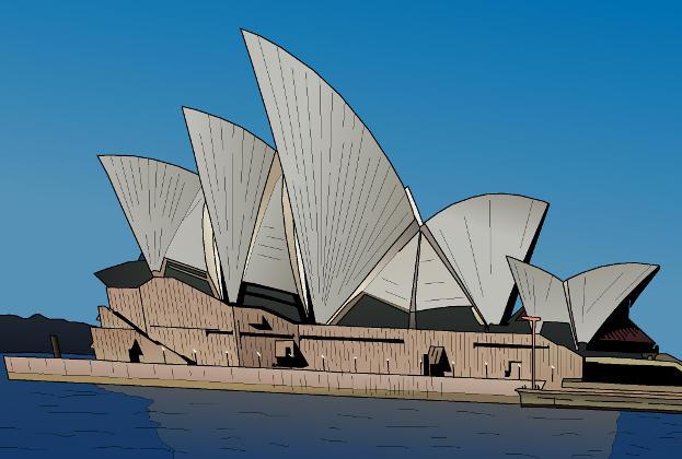 Cartoon-style-illustration-of-the-sydney-harbour-opera-house-wallpaper-wp3403757