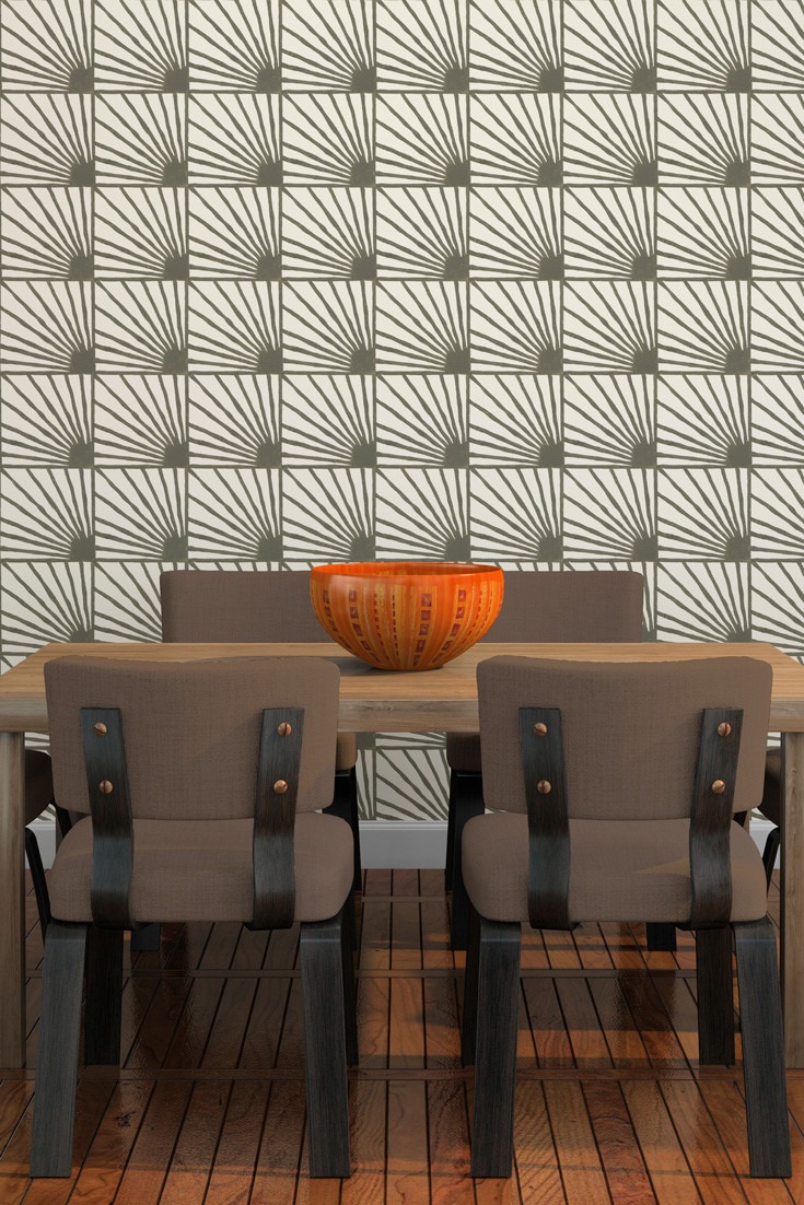 Catch-Some-Rays-hand-block-printed-in-Stone-gray-makes-a-great-modern-accent-wall-in-thi-wallpaper-wp5205046