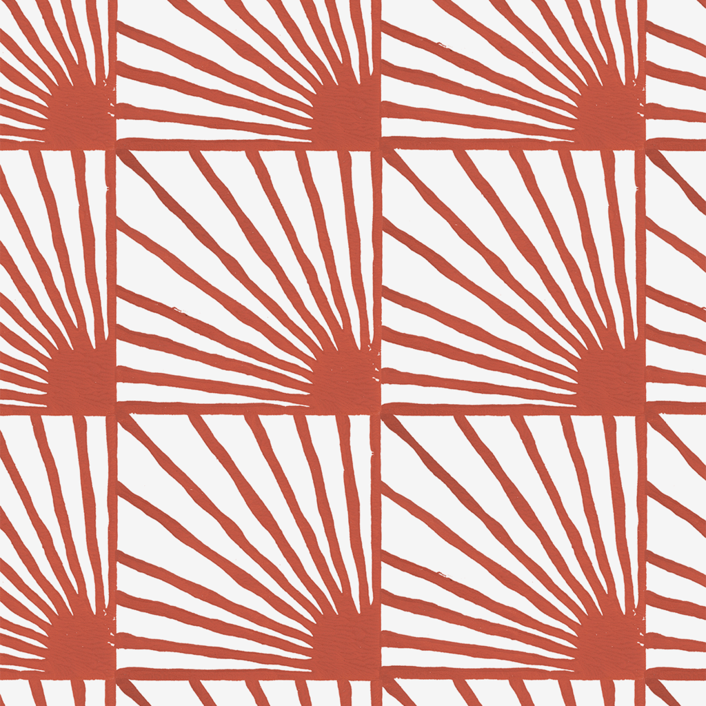 Catch-Some-Rays-in-Cayenne-red-Hand-block-printed-by-Sarah-Ruby-www-sarahrubydesig-wallpaper-wp5205049
