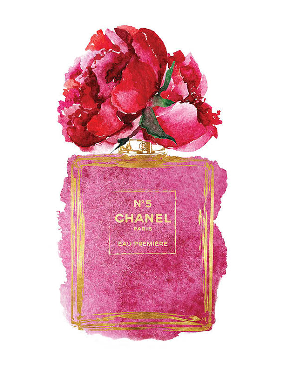 Chanel-No-art-x-Pink-Peony-watercolor-Gold-by-hellomrmoon-wallpaper-wp5603775