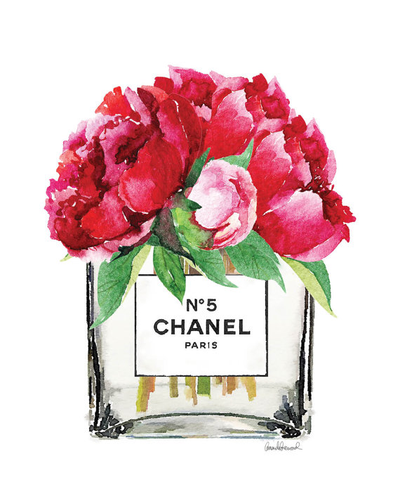 Chanel-poster-Pink-Peony-vase-Chanel-art-print-by-hellomrmoon-wallpaper-wp5603777