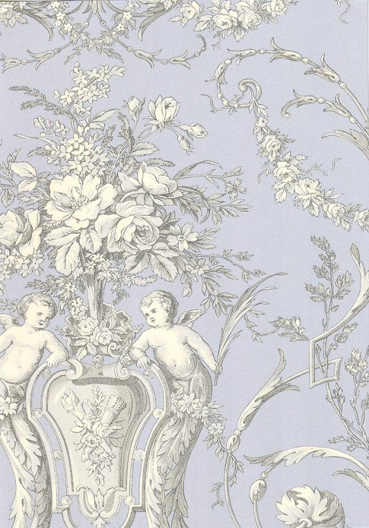 Cherub-Toile-A-traditional-with-cherubs-in-white-and-grey-on-bl-wallpaper-wp5804524