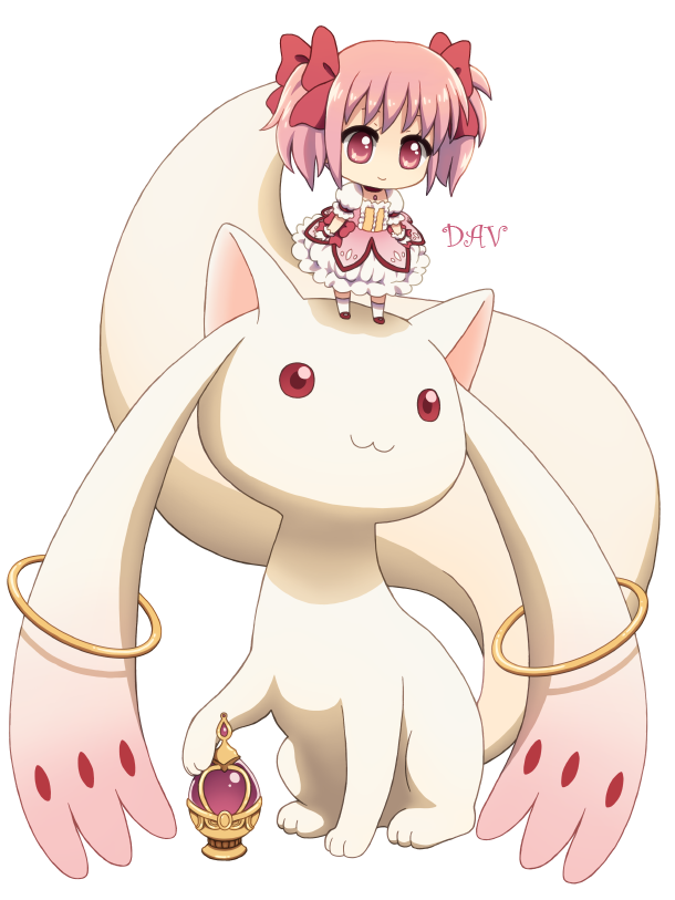 Chibi-Madoka-and-Kyubey-by-DAV-on-deviantART-wallpaper-wp5005960