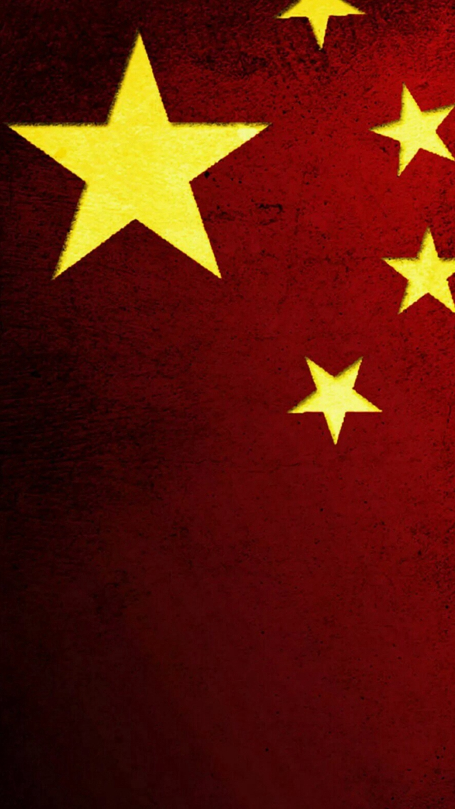 Chinese-National-Flag-Pattern-Background-iPhone-s-wallpaper-wp424515