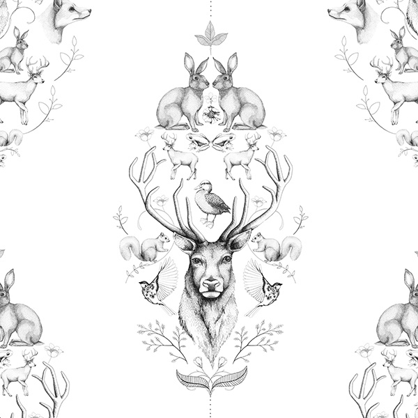 Close-up-of-Linn-Warme-s-Animal-Symmetry-A-part-of-her-collection-of-wall-murals-and-wall-wallpaper-wp5205295