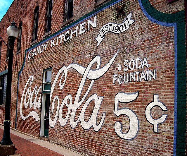 Coca-Cola-Wall-This-wall-advertising-Coca-Cola-for-cents-is-for-the-Flesors-Candy-Ki-wallpaper-wp5603951