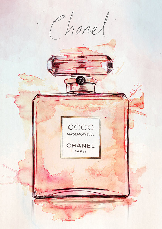 Coco-Mademoiselle-Chanel-Watercolour-Illustration-by-Realbadthings-wallpaper-wp5006157