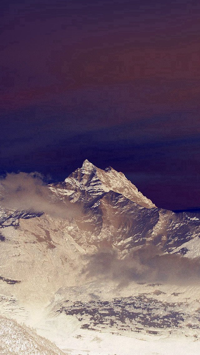 Cold-Mountain-Snow-Nomore-Nature-Cloud-Blue-iPhone-s-wallpaper-wp424605