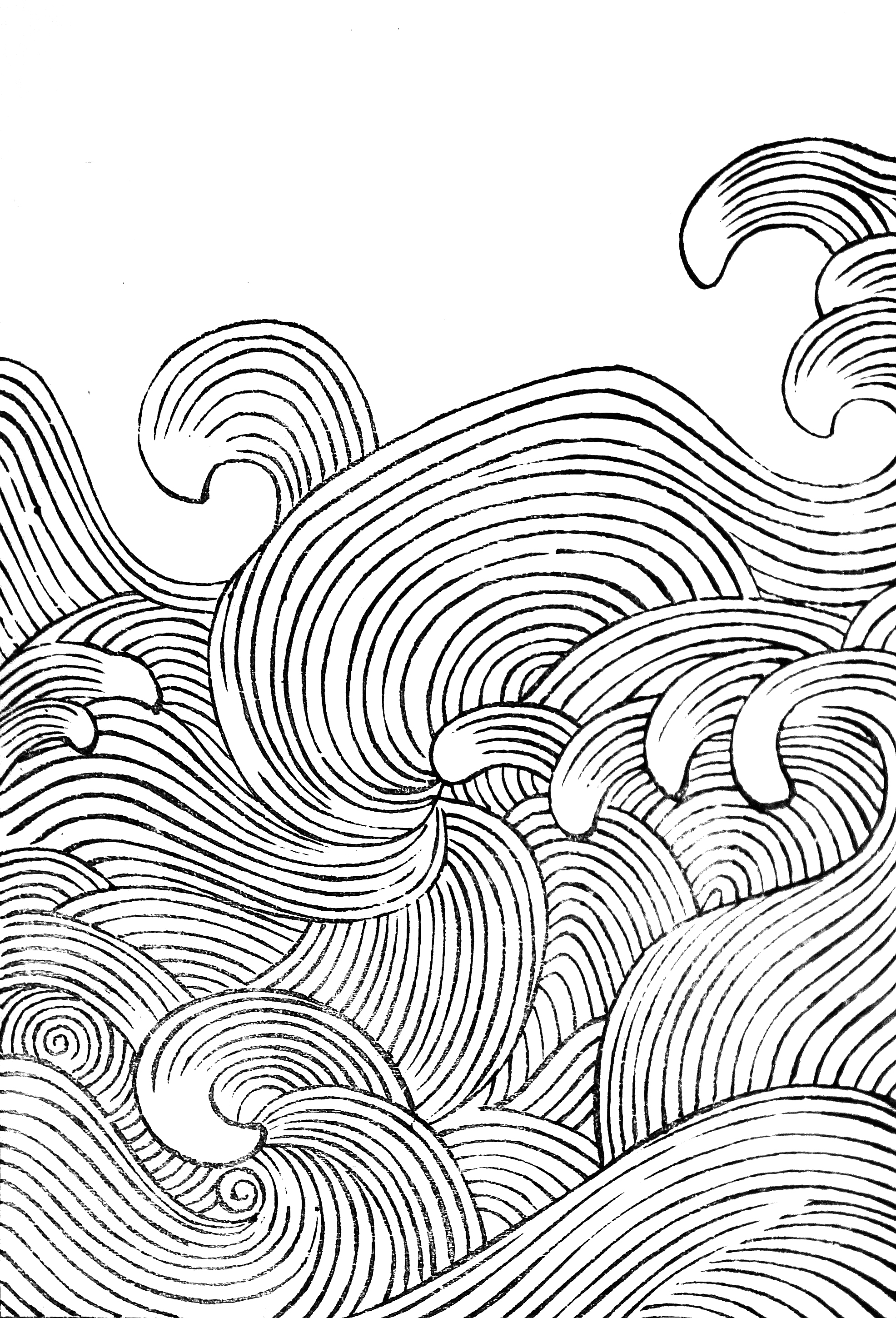 Collection-of-wave-designs-by-Mori-Yuzan-from-Hamonshu-wallpaper-wp5006189