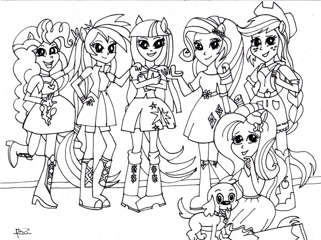 Coloring-page-My-little-pony-equestria-girls-Kleurplaat-wallpaper ...
