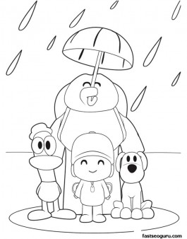 Coloring-pages-printabel-Pocoyo-Loula-and-Pato-are-enjoying-the-rain-Printable-Coloring-Pages-For-wallpaper-wp424645-1