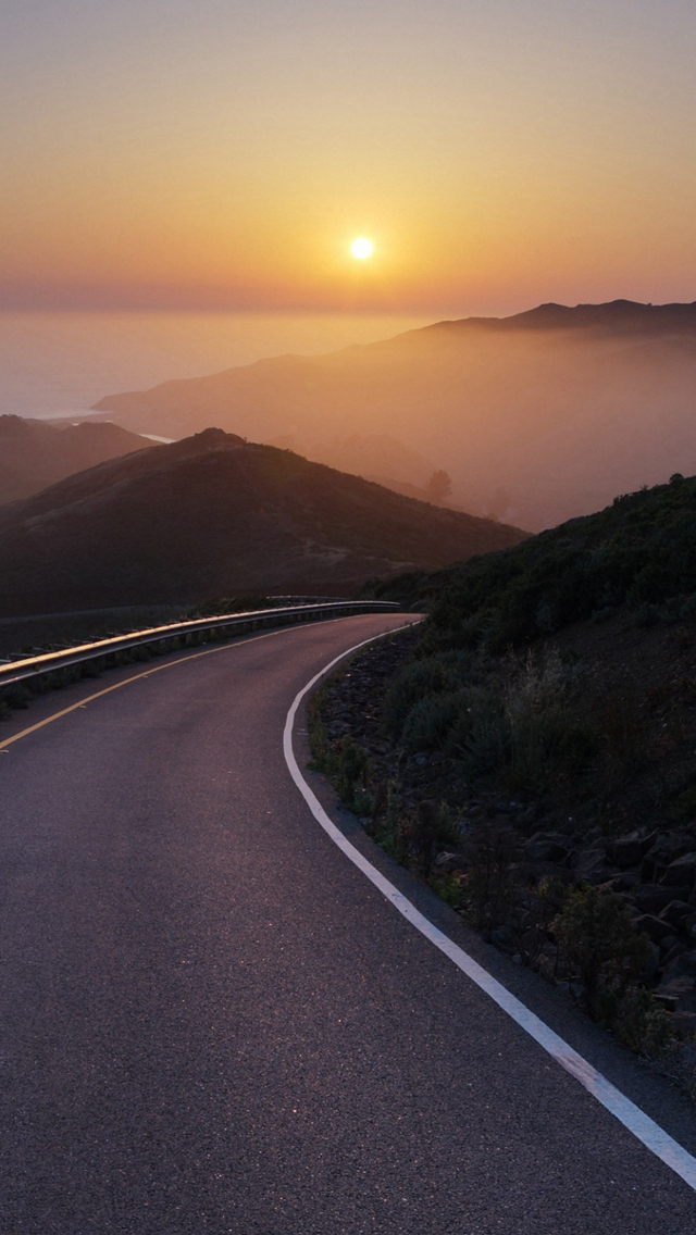Conzelman-Road-Sunset-Turning-Road-Sea-iPhone-s-wallpaper-wp424665