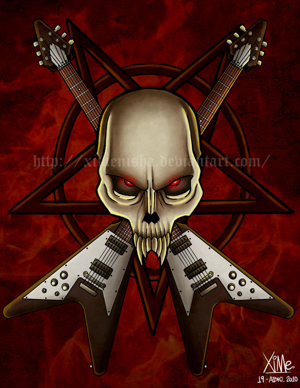 Cool-Heavy-Metal-Calavera-metal-by-XimeniSHA-on-deviantART-wallpaper-wp5604009