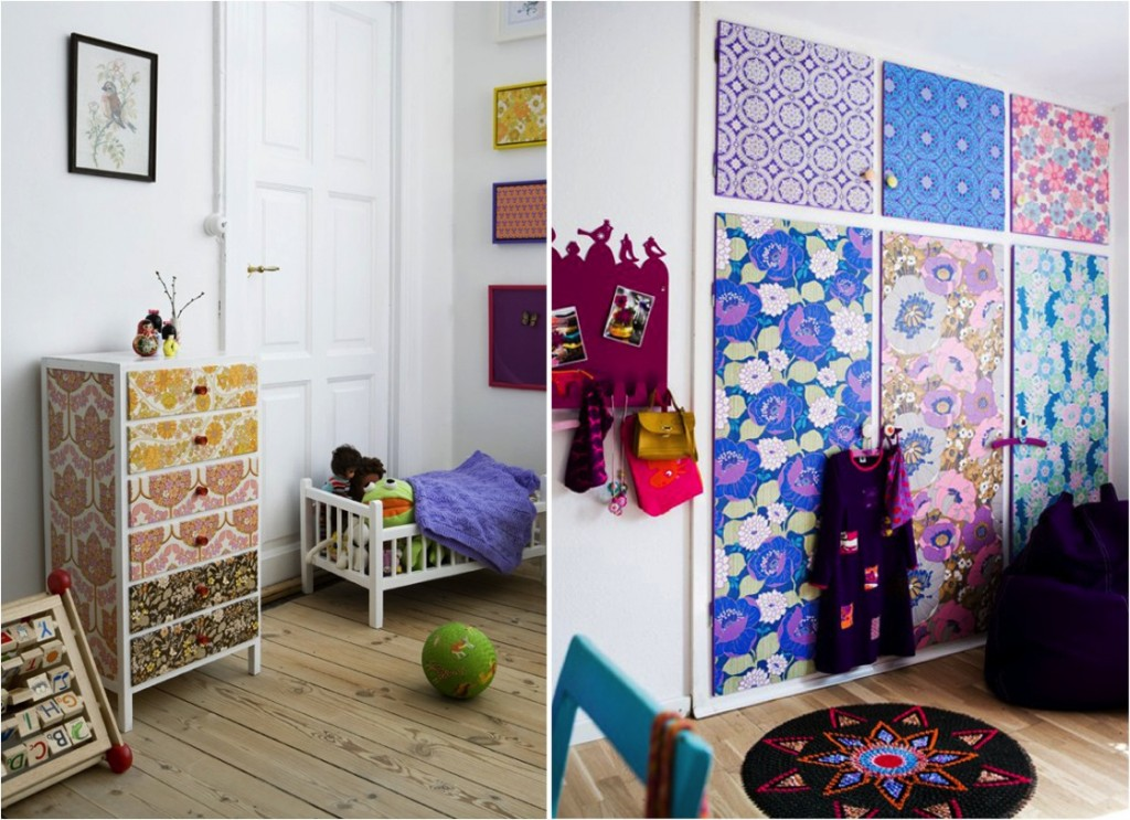 Cover-plain-furniture-and-wardrobe-doors-with-sheets-of-patterned-gift-wrap-wallpaper-wp5804753
