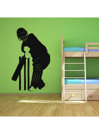 Cricketer-Outline-Wall-Art-Sticker-wallpaper-wp4805589