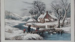Currier and Ives wallpaper