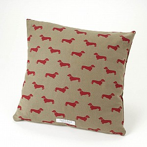 Cushion-in-Emily-Bond-Dachshund-Linen-Union-in-Red-wallpaper-wp424753-1