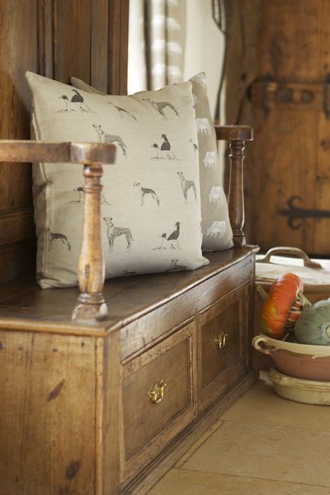 Cushion-in-Emily-Bond-Long-Dog-Linen-Union-wallpaper-wp424755-1