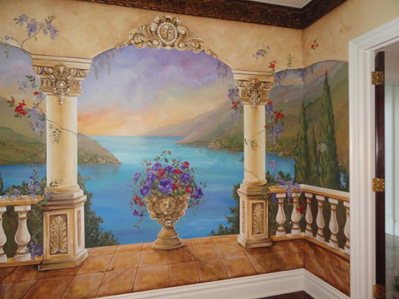 Custom-Mural-Mediterranean-Mural-Decorative-painting-Italian-Murals-custom-wall-art-wallpaper-wp424759-1