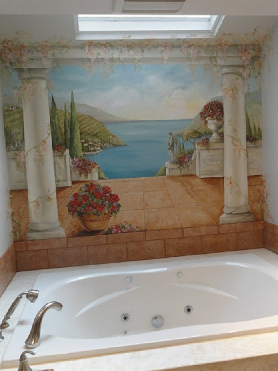 Custom-Mural-Seascape-Mural-Italian-Murals-Master-bath-decoration-custom-canvas-mural-wallpaper-wp424760-1