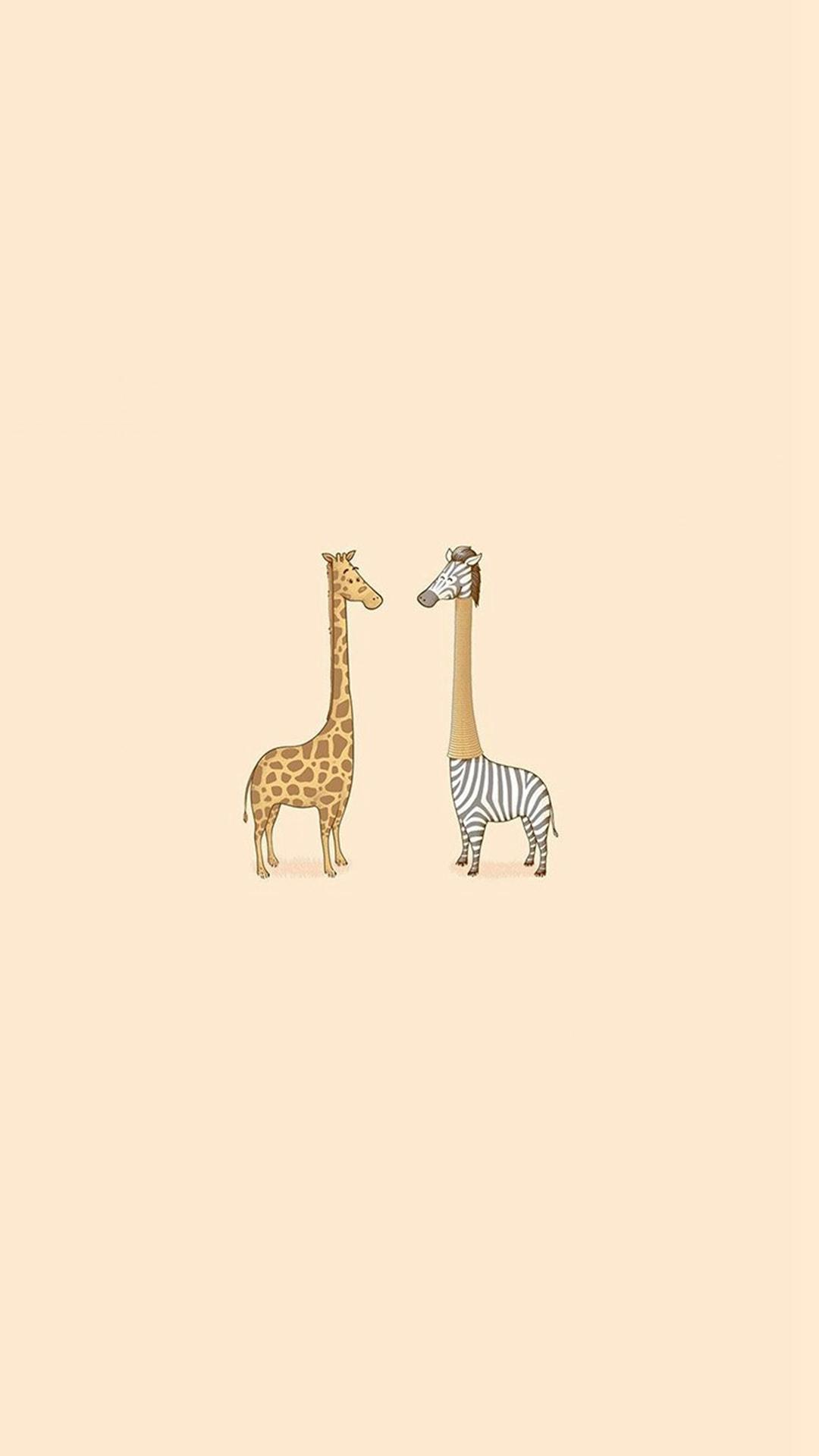 Cute-Giraffe-Yellow-Animal-Minimal-iPhone-wallpaper-wp5006424