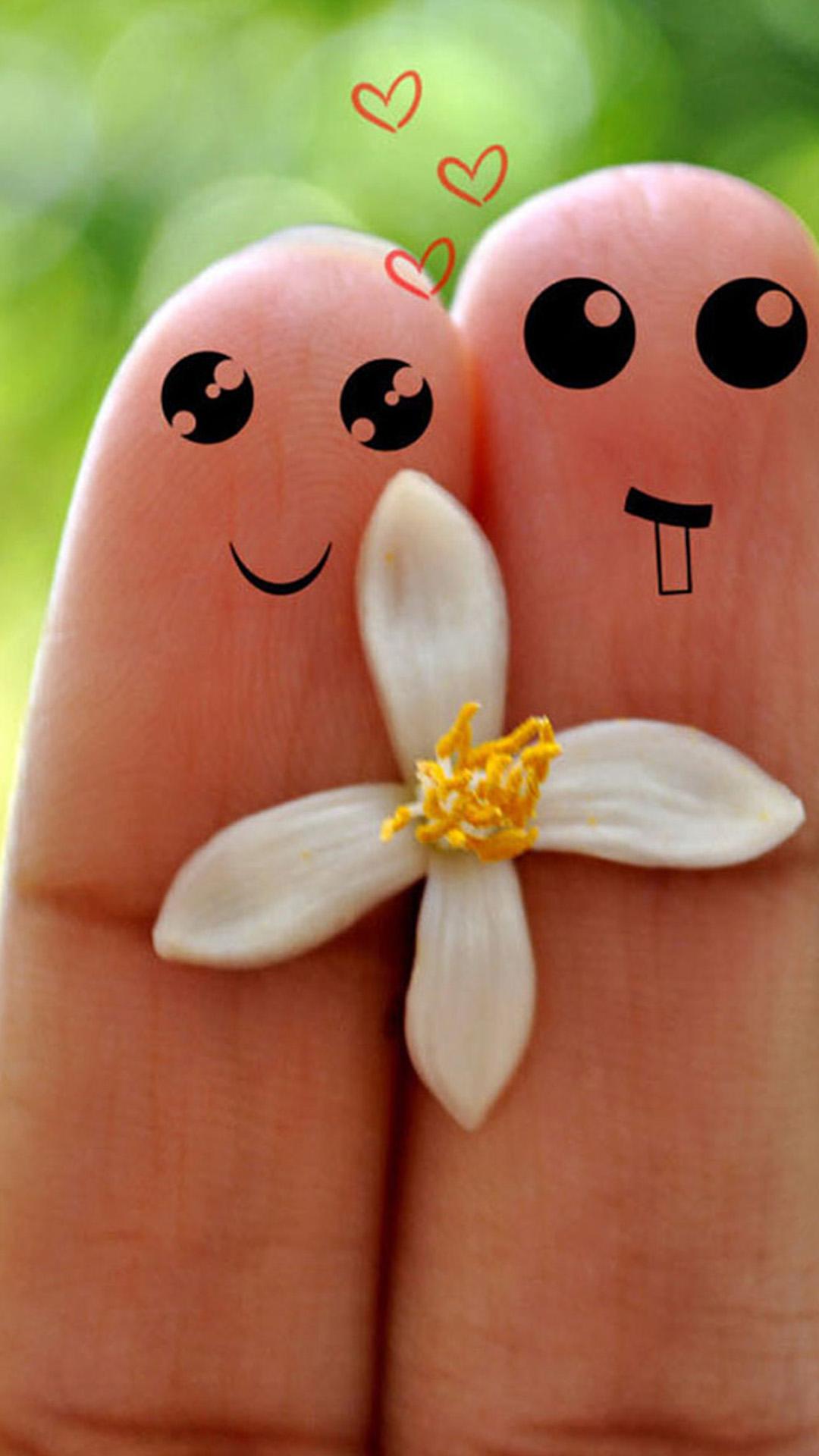 Cute-Love-Cartoon-Couple-Fingers-iPhone-wallpaper-wp5006434