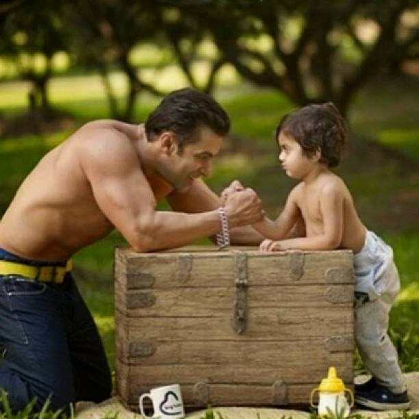 Cute-Pic-of-Salman-and-his-Nephew-on-Photoshoot-for-Being-Human-wallpaper-wp4805648