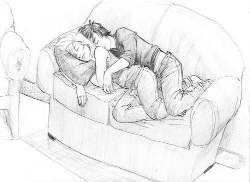 Cute-couple-sketch-This-is-pretty-much-me-and-the-man-everyday-couch-potatoes-wallpaper-wp6002859