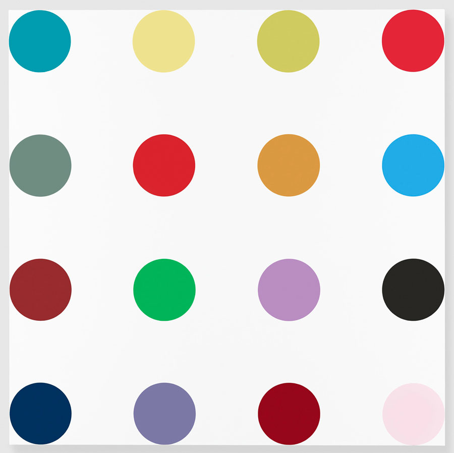 DAMIEN-HIRST-Gagosian-Gallery-Isonicotinoyl-Chloride-Household-gloss-on-canvas-x-in-wallpaper-wp5602106