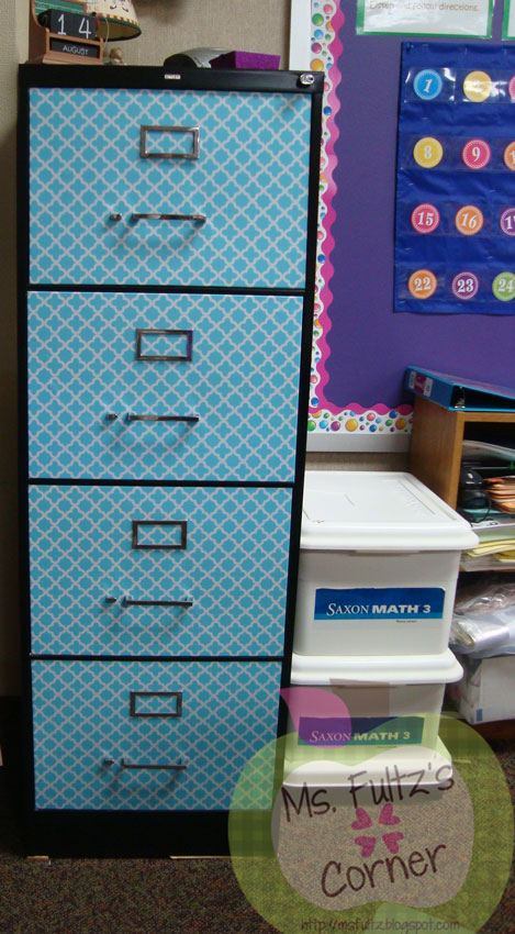 DIY-filing-cabinet-makeover-with-contact-paper-from-Ms-Fultzs-Corner-wallpaper-wp5604411
