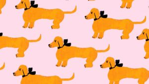 Dachshund Pattern wallpaper