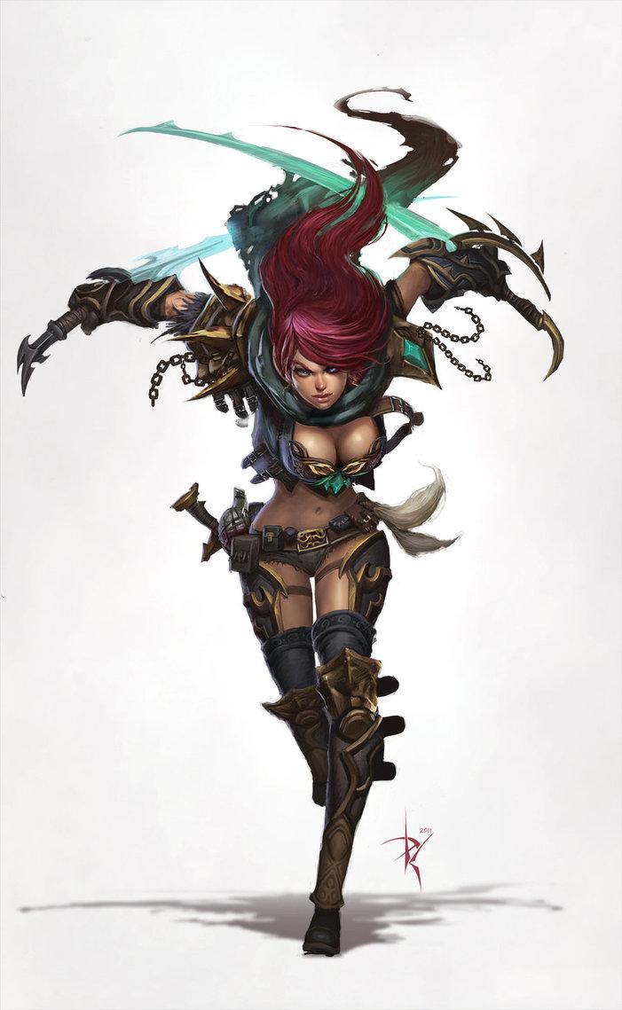 Death-Rogue-Massive-Online-Gamer-Cover-Art-by-Zeronis-on-deviantART-Katarina-wallpaper-wp5404468