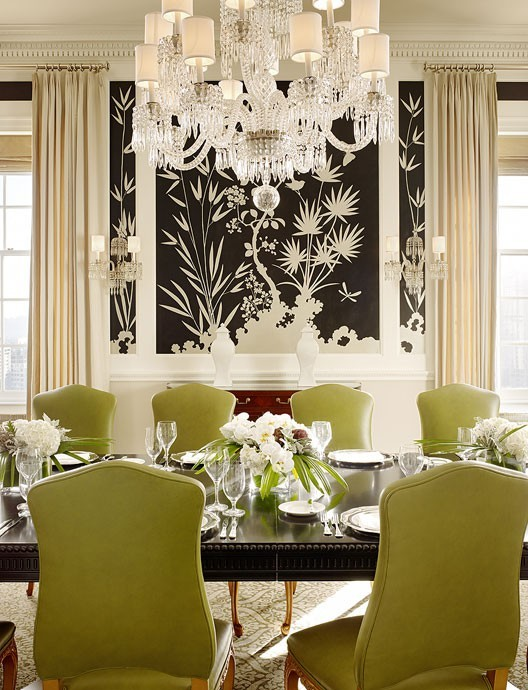 Decorate-my-house-exactly-like-this-Dining-room-green-kiwi-chandelier-black-and-white-wall-mu-wallpaper-wp5205698