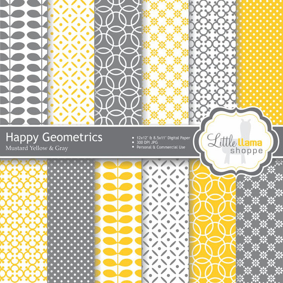 Digital-Paper-Pack-in-Mustard-Yellow-and-Gray-Geometric-Patterns-INSTANT-DOWNLOAD-Commercial-Use-wallpaper-wp3004967