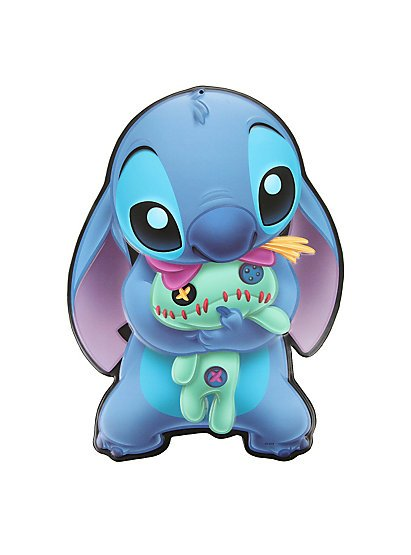 "Disney-Lilo-Stitch-Stitch-Scrump-¾""-x-½""-Collectible-Tin-Sign-by-Open-Road-wallpaper-wp4805958"