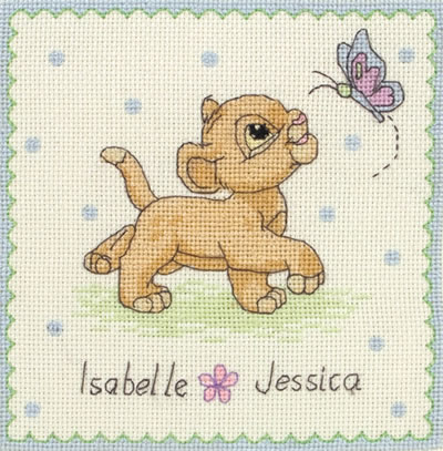 Disney-Lion-King-Simba-Name-Sampler-Baby-Birth-Record-Cross-Stitch-DPST-eBay-wallpaper-wp424975-1