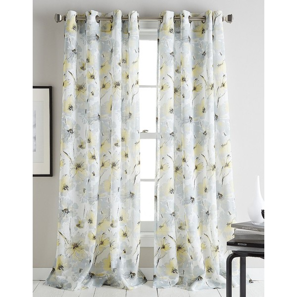 Dkny-Modern-Bloom-Floral-Printed-Curtain-Panel-in-liked-on-Polyvore-featuring-home-home-d-wallpaper-wp5805151