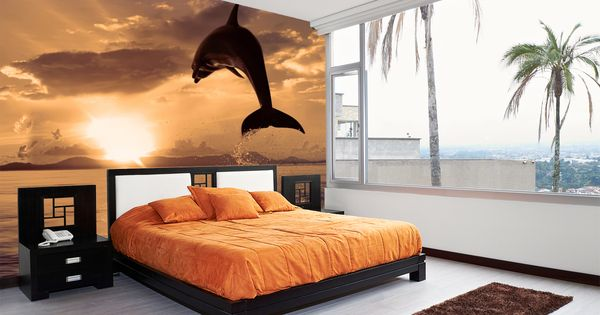 Dolphin-Sunset-A-beautiful-that-brings-the-outdoors-inside-wallpaper-wp3005109