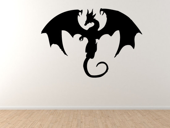 Dragon-Mythology-Winged-Fire-Serpent-Tattoo-Symbol-Wall-Vinyl-Decal-Home-Decor-wallpaper-wp5205982