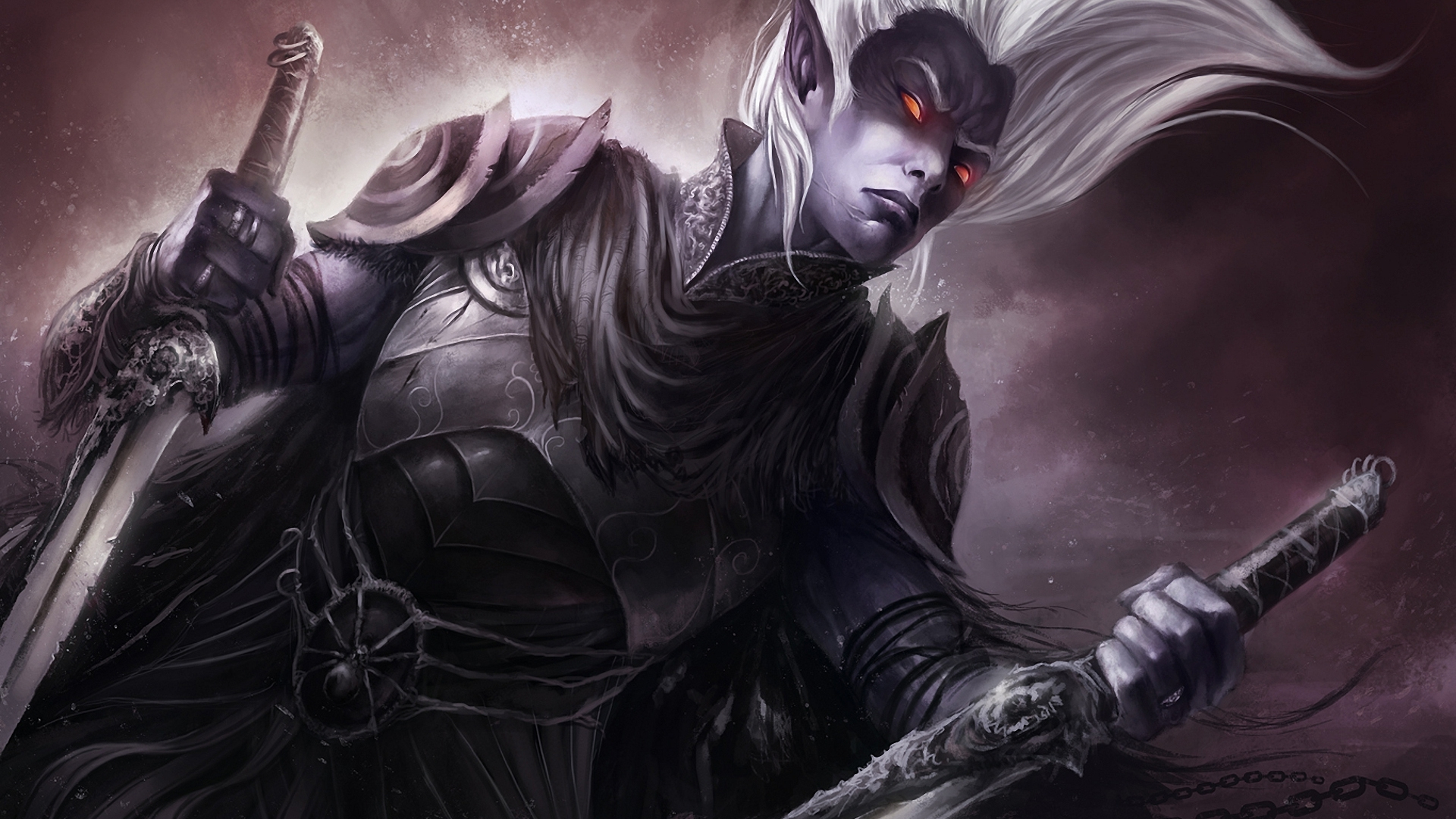 Drow-A-drow-or-dark-elf-is-a-dark-skinned-red-eyed-evil-race-who-live-far-below-the-surface-of-wallpaper-wp3405102