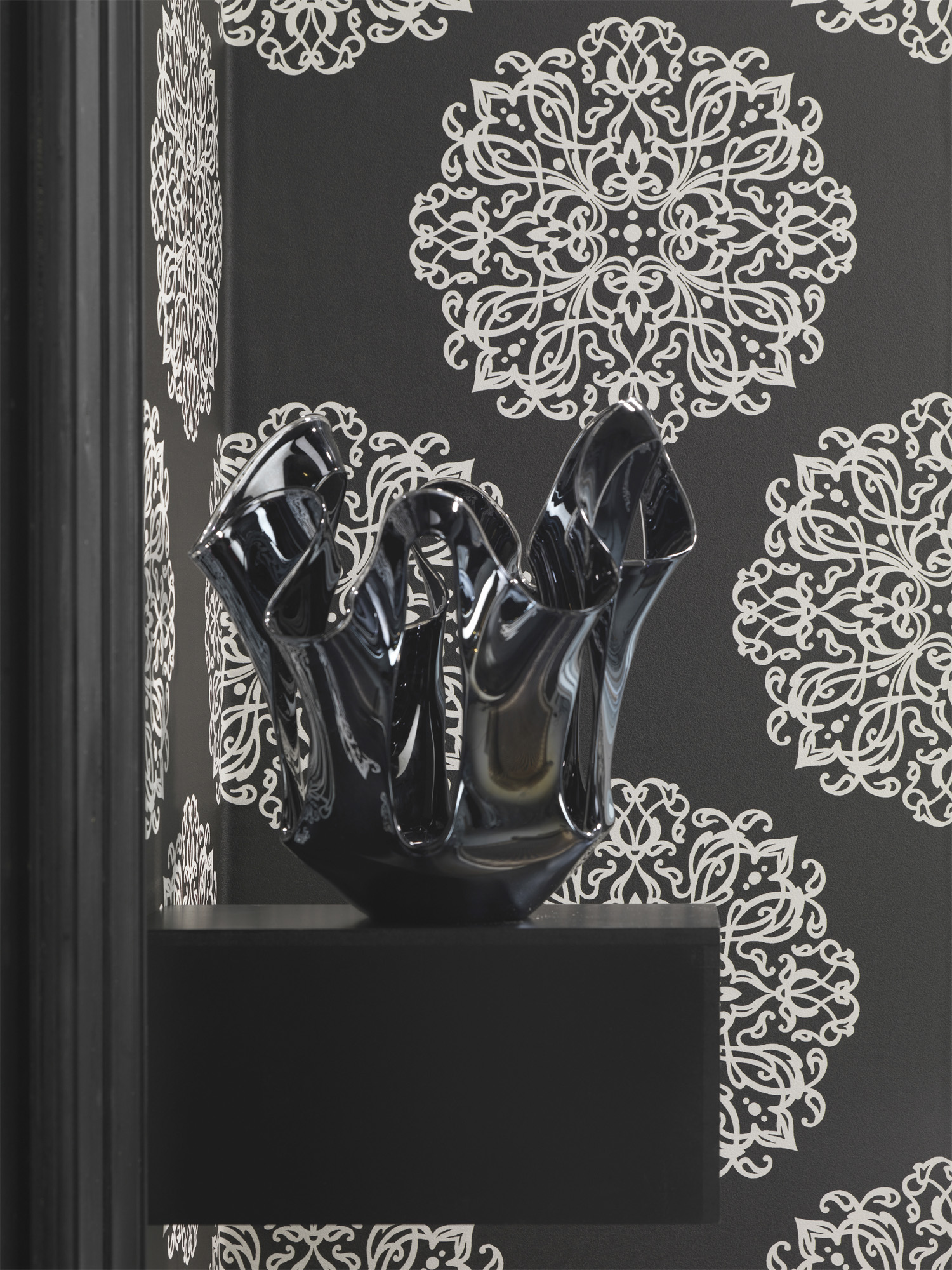 Embellished-is-comprised-of-intricate-weaved-lines-in-a-wallpaper-wp440278