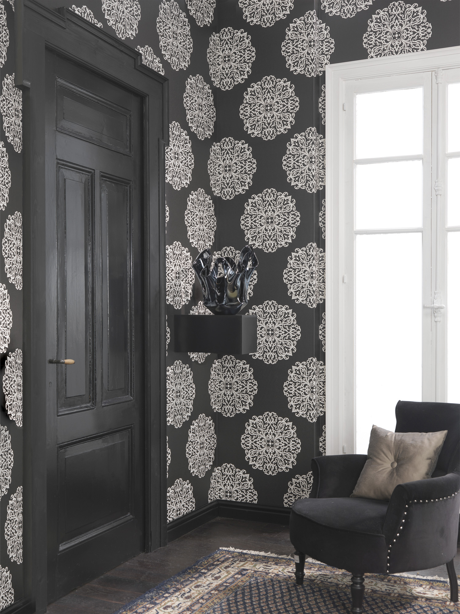 Embellished-is-comprised-of-intricate-weaved-lines-in-a-wallpaper-wp440857