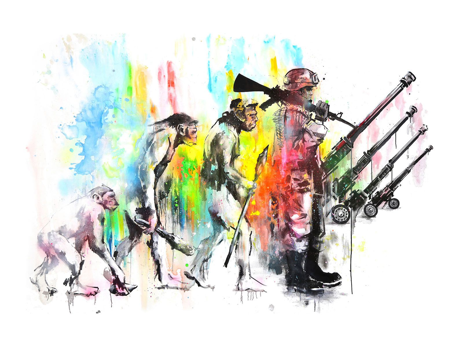Evolution-Hand-Painted-Multiple-by-Lora-Zombie-Small-Edition-of-just-pieces-Available-Now-wallpaper-wp5604649