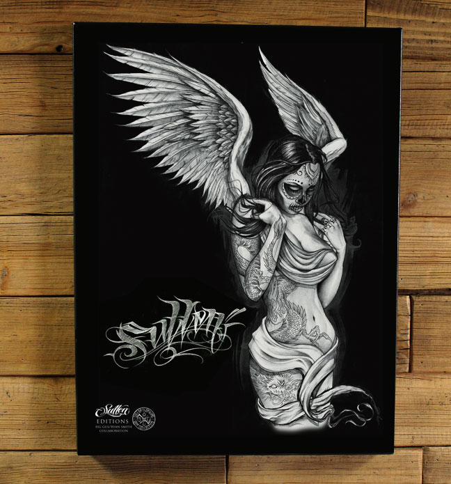 FALLEN-ANGEL-BLACK-GICLEE-wallpaper-wp5206342