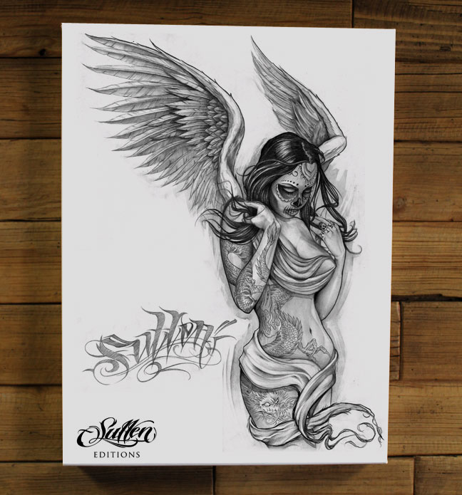 FALLEN-ANGEL-WHITE-GICLEE-wallpaper-wp5206343